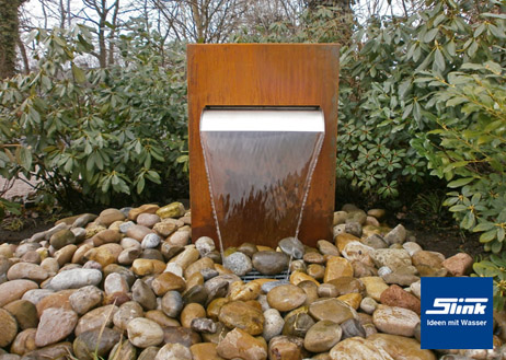 fontaine en acier corten fontaines de jardin. Black Bedroom Furniture Sets. Home Design Ideas