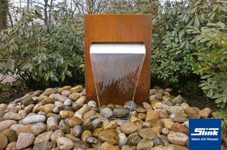 Fontaine en acier Corten